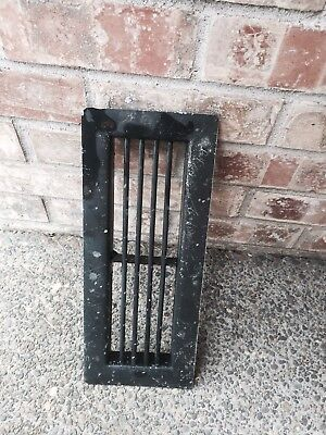 "Vintage 14-1/8"" X 5-3/4"" Floor/Wall Heat Register Metal Vent Grate Cover"