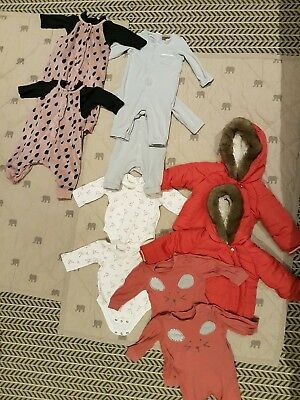 Twin Baby Girl Clothes Bundle M&S NEXT H&M MOTHERCARE 0-3 3-6 months