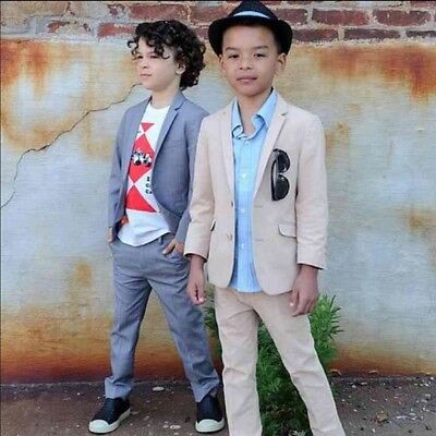 Appaman Boutique Tailored two-piece mod Suit in Desert 7 little Boys