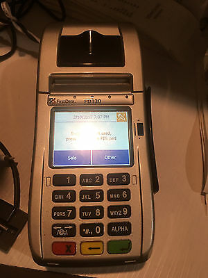 FIRST DATA FD-130 TERMINAL SET    ***CLEAN and UNLOCKED!***    FREE SHIPPING