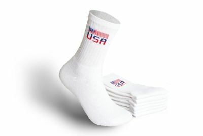 MEN'S ATHLETIC CREW SOCKS – WCF-USA - SIZE 10-13(Wholesale Lot of 180 Pairs)