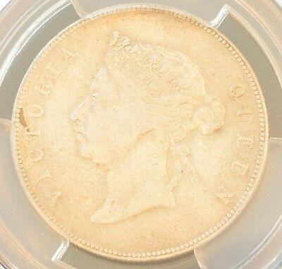 1892 China Hong Kong 50 Cent Victoria Silver Coin PCGS VF Details
