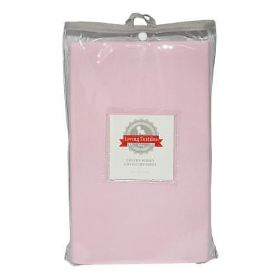 Living Textiles Jersey Cot Fitted Sheet Pink