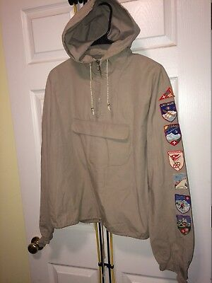 Vintage parka SKI PATCHES JACKET HAND SOWN 1940s museum hand made medic Polo sui
