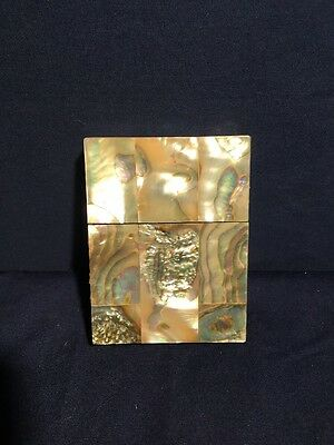 Antique Vintage Abalone Playing Card Case