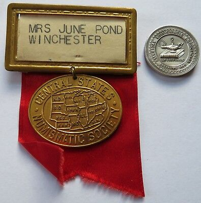 1953 Central States Numismatic Society Convention Medal Chicago+ANA Sterl(161I