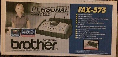 Brother FAX-575 Personal Fax Phone and Copier ... New ..opened box