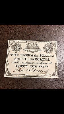The Bank The State of South Carolina Fort Sumter 1861 CHOICE UNCIRCULATED RARE!!