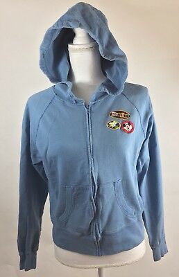 Disneyland Resort Hoodie Size Large Youth Girls Jacket Zip Patches Embroidered