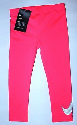 Girls 4T Nike Leggings Athletic Pink Dri-fit Nike Pants New w tags $30