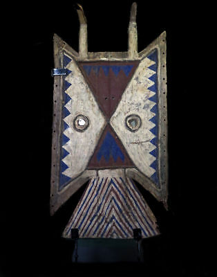 41 inches Authentic Old Toussian (Tusyan) Mask Burkina Faso Custom Stand
