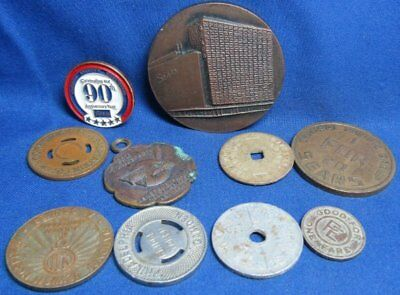 Vintage 1930s Tax Tokens, Subway Coins, 1967 Sears In Spain Lot Of 10