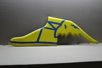 Yellow Goodyear Tires Embossed Porcelain Foot Sign  Gas Oil Car Farm