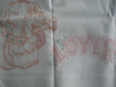 Vtg BULLDOG LOVER Stamped Pillowcase to Embroider New Condition