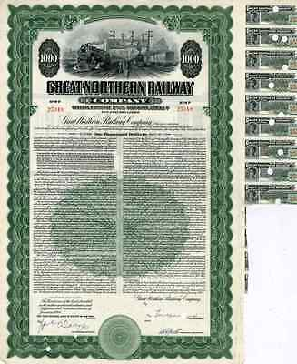 1946 Great Northern RW Bond Certificate