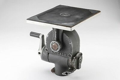 """Majestic Geared Head for Camera Stand or Tripod with a 5.5""""x 7"""" plate"""
