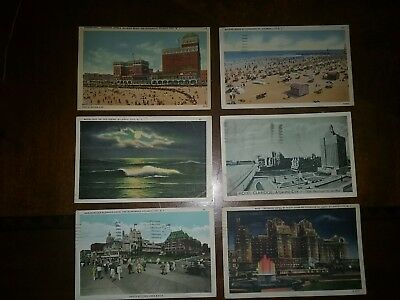 old postcards from atlantic city nj. one card newest from 1930s one 1941