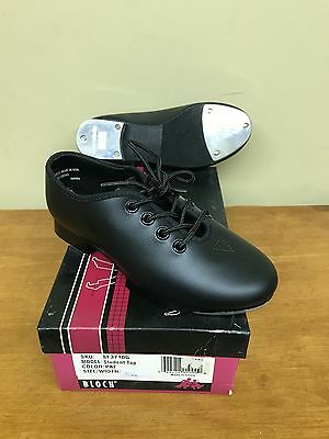 New Bloch Student Jazz Tap Dance Shoe 3710G Black Lace Up Child Multiple Sizes