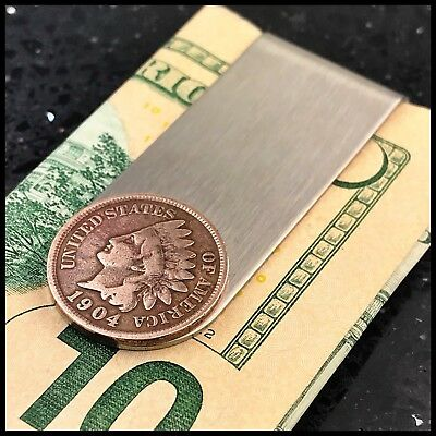 New Credit Card Money Clip Wallet Antique Indian Head Penny Coin USA 🇺🇸 1 Cent