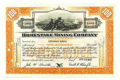 Set of 4 diff. mining stock certificates 1900's-1940's USA nice used