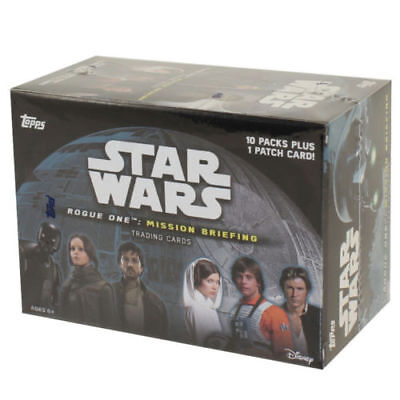 topps Star Wars rogue one mission briefing 10 packs  trading cards sealed box