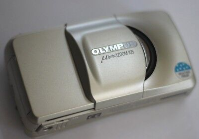 OLYMPUS Mju Zoom 105 Compact 35mm film Camera in Great Condition w/ battery