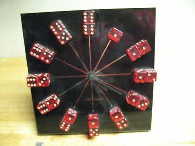 Casino  Dice  Clock  Novelty Clocks  Of  Nevada Inc.  Vintage Genuine Very Nice