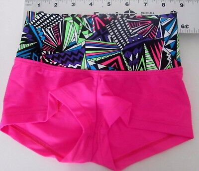 Child Small Shorts New-CS Leotard-Gymnastics--Girls- pink