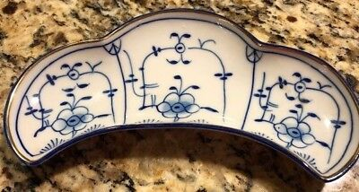 Thuringia Germany Vintage Circa 1930 Porcelain Appetizer Dish S Huttensteinach