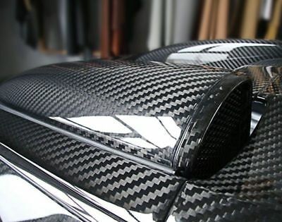 3D5D Premium HIGH GLOSS  Carbon Fiber Vinyl Wrap Bubble Free Air Release Sticker