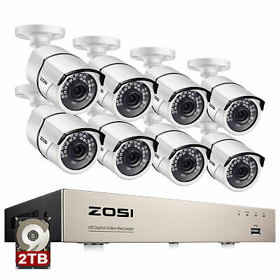 ZOSI 1080P CCTV Security Camera System HDMI 4CH 8CH DVR 2MP Outdoor Home Kit