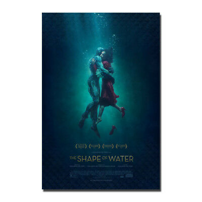 The Shape of Water Movie Poster Guillermo del Toro Canvas Poster 12x18 24x36''