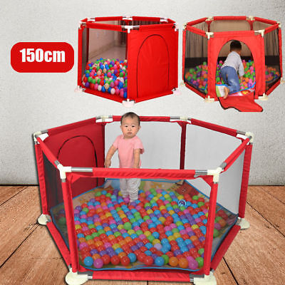 Baby Play Pen Indoor Outdoor Stable Children Toddler Kids Playpen Heavy Duty