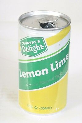 Country's Delight Lemon Lime Soda Can - 12oz  EMPTY