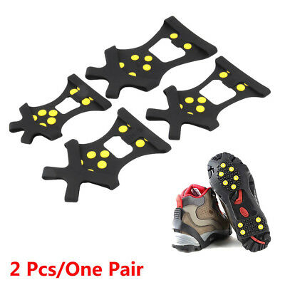 Snow Ice Climbing Safety Anti Slip Boots Shoes Spikes Grips Cleats 10-Stud S-XL