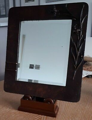 Antique/Vintage Mirror | Possibly Edwardian , beveled edge, unusual design