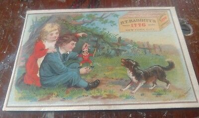 1880's Trade Card B.T. BABBITTS New York Hatch Lithographers PUNCH & JUDY puppet