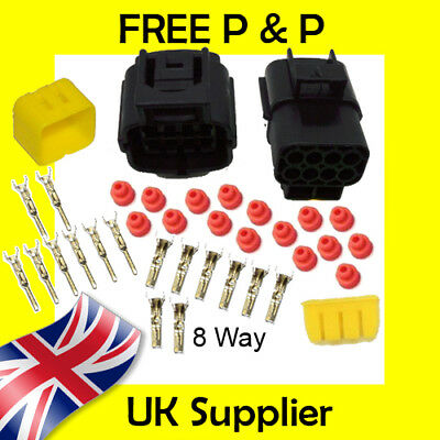 8 Way Male + Female Econoseal AMP Waterproof Wiring Electrical Multi Connector