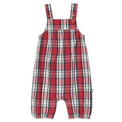 Kite Check Dungarees Organic Baby and Children's Clothing