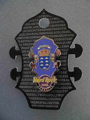 Hard Rock Cafe Tenerife Hotel - Core Headstock - HRC Logo with Flag Pin on Card