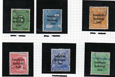 german stamps, allied occupation russian zone