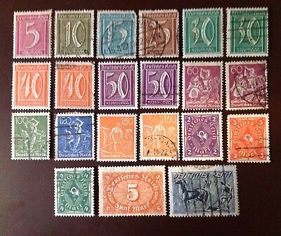 Germany 1921-1923 Definitive Selection Of 16 Values MH & Used Cat £57