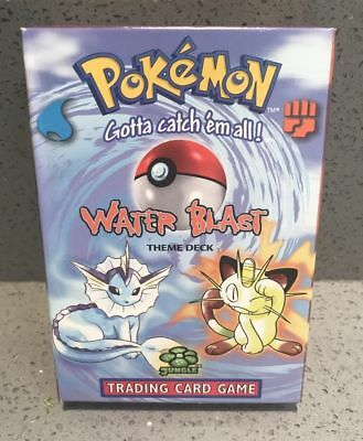 "RARE  Pokemon "" Water Blast"" THEME DECK 'FACTORY SEALED WOTC 1999"