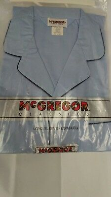 Vintage New McGREGOR CLASSICS Mens Pajamas Long Sleeves Long Leg Sz L Blue