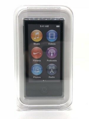 Apple iPod Nano 7. Generation Spacegrau Space Grey Gray Grau 16GB NEU NEW