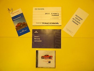 2006 Toyota Tacoma Owners Manual W/case/cd Item#ty4 Large Selection Of Manuals