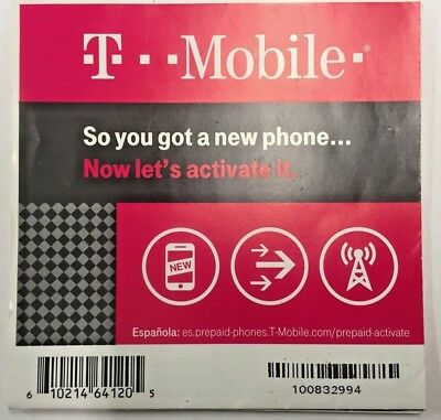 Lot Of 100 Brand New T-Mobile Activation Codes