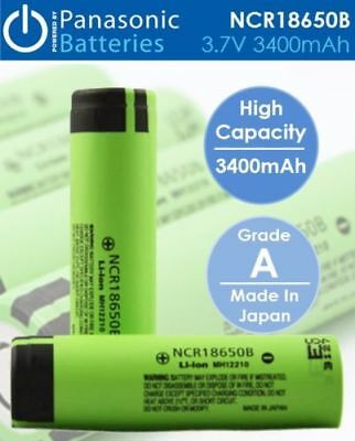 Panasonic NCR 18650 B 3400mAh Flat Top Lithium Li-Ion Rechargeable Battery