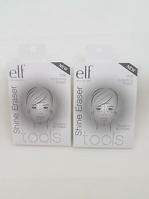 e.l.f Shine Eraser Oil Blotting Sheets 1706 NEW 100 total sheets, 50 in each pk