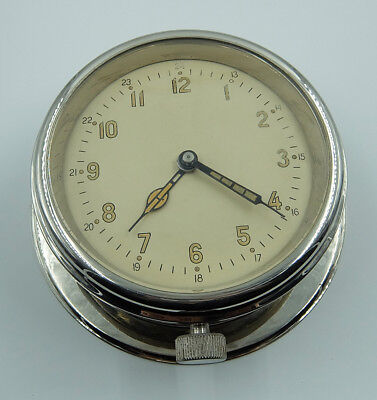 Ussr Russian Soviet Submarine Navy Marine Brass Ship Wall Clock 2-55